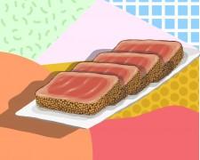 Carpaccio pez mantequilla